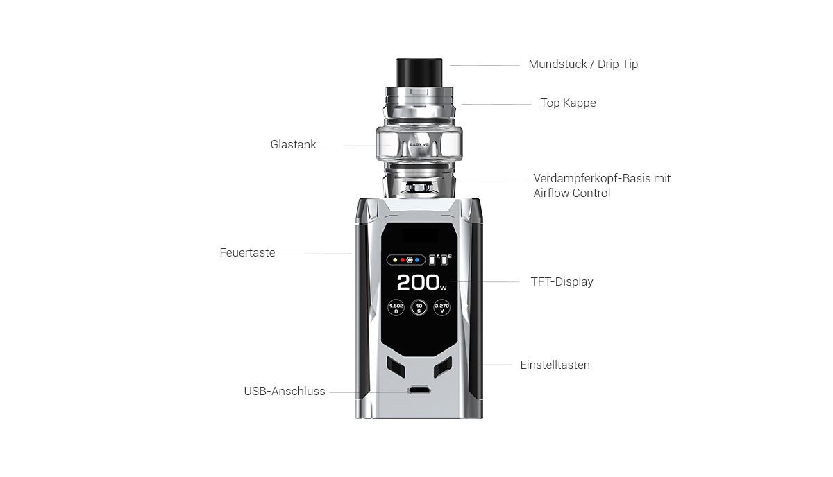 Smok R-Kiss E-Zigarette Erklärung